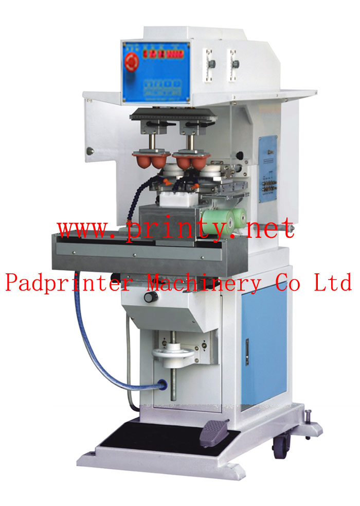 Magnetic Ink Printer >> 2 color shuttle pad printer machine with auto pad cleaning,pneumatic auto cleaning pad printing ...
